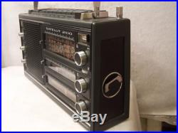 1976 GRUNDIG SATELLIT 2100 AM/FM SHORTWAVE 13 BAND TRANSISTOR RADIO BLACK EDIT