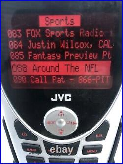 ACTIVATED JVC KT-SR2000 SIRIUS RADIO With Docking Station Power Cord Lifetime