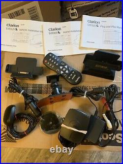 Activated Clarion Sirius Satellite Receiver Calypso With Home And Car Kit Read Xm
