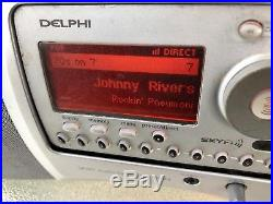 Delphi SA10000 Sirius XM Satellite Radio + BOOMBOX! LIFETIME SUBSCRIPTION SkyFi