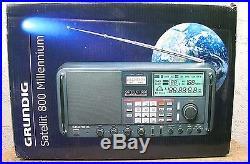 Grundig Satellit 800 Millenium World Receiver Shortwave Multiband Radio, Exc