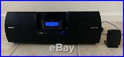 LIFETIME SUBSCRIPTION Sirius Stratus 6 + SUBX2 Boombox Satellite Radio w Antenna