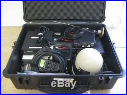 Mitsubishi Msat Portable Satellite Phone Complete Kit + Ptt MIC + Pelican Case