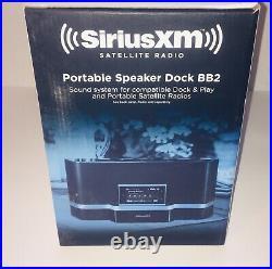 NEW SIRIUS SXABB2 Portable Speaker Dock Black SIRIUS XM Satellite Radio BB2 NIOB