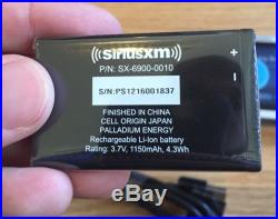 NEW SIRIUS XM LYNX SXi1 PORTABLE RADIO With NEW BATTERY USB AC CHARGER