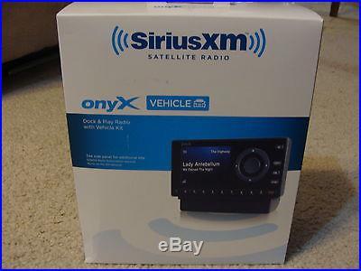 NEW Sirius XM OnyX Receiver Dock & Play Satellite Radio with Vehicle Kit XDNX1V1