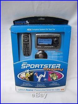 NEW sealed Sirius Sportster Replay SP-R2 Satellite Radio withcar kit SP-TK2