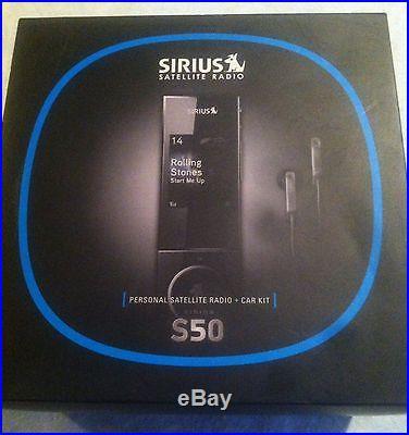 New Sirius S50 TK1 Personal Home Satellite Radio Plus Car Kit