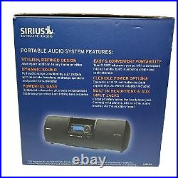SIRIUS Model SUBX2 Portable Speaker Dock Boombox withPower Adapter & Antenna Aux