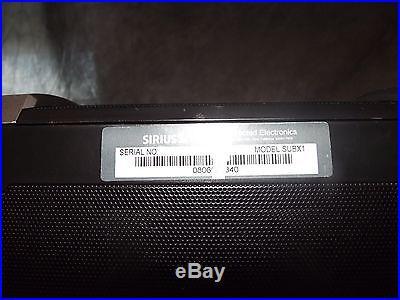SIRIUS SATELLITE RADIO SUBX1 BOOMBOX & STRATUS 3 RECEIVER FREE SHIPPING