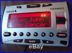 SIRIUS ST1R Starmate satellite radio Receiver WithBoombox-LIFETIME SUBSCRIPTION