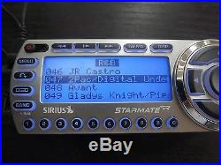 SIRIUS ST2 Starmate 2 XM satellite radio WithCar kit ACTIVE LIFETIME SUBSCRIPTION