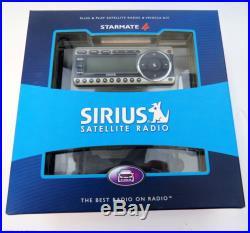 SIRIUS STARMATE 4 SATELLITE RADIO RECEIVER withLIFETIME SUBSCRIPTION CAR, HOME KIT