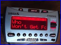 SIRIUS STARMATE ST1R satellite radio Receiver WithCar Kit-LIFETIME SUBSCRIPTION