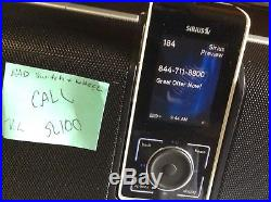SIRIUS STILETTO 100 SL100 with EXECUTIVE SPEAKER BOOMBOX SLBB2 SOUND SYSTEM read