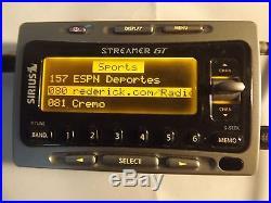 SIRIUS STREAMER GT satellite radio Receiver WithCar Kit-LIFETIME SUBSCRIPTION