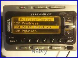 SIRIUS STREAMER GT satellite radio SIR-SL1 W car kit LIFETIME SUBSCRIPTION