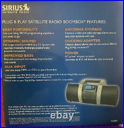 SIRIUS Satellite Radio Boombox Plug And Play New Never Used