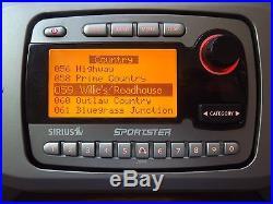SIRIUS Sportster SPR1 SP-R1 XM satellite radio Only -LIFETIME SUBSCRIPTION