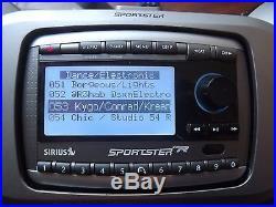 SIRIUS Sportster SPR2 SP-R2 XM satellite radio WithBoomBox LIFETIME SUBSCRIPTION