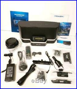 SIRIUS Stratus 6 Radio LIFETIME SUBSCRIPTION, Portable Speaker Dock, New Car Kit