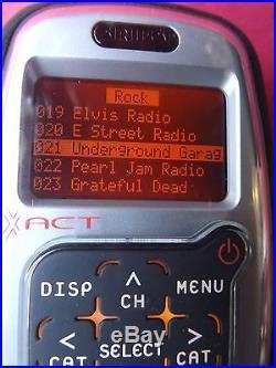 SIRIUS XACT STREAM JOCKEY satellite radio, BoomBOX, Remote LIFETIME SUBSCRIPTION