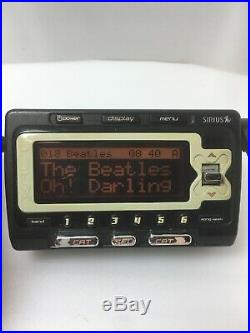 SIRIUS XACT XTR7 satellite radio receiver with Active SUBSCRIPTION Howard Stern