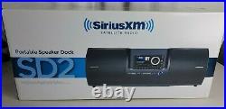 SIRIUS XM satellite radio SD-2 boombox, Sirius Starmate 5 Sirius Dock & Play kit
