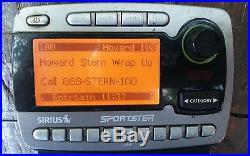SIRIUS satellite radio Remote LIFETIME Howard Strong FM w BOOMBOX home car BOTH