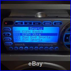 STB2 Sirius Portable Radio Boombox & ST2 Stargate Replay WORKING CHANNELS 2-174