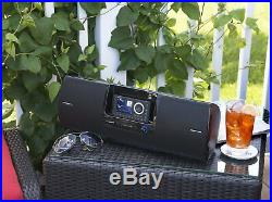 SiriusXM Boom Box Portable Dock & Play Radio Universal 884720013249- Black