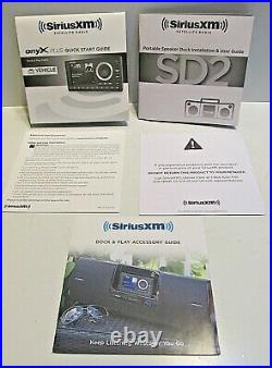 SiriusXM SXPL1V1 Sirius XM Dock & Play Satellite Radio with Vehicle Kit & Boombox
