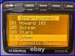 Sirius Audiovox Satellite Radio Premium Lifetime activated (receiver only)