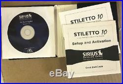 Sirius SL10 Portable SATELLITE Radio SL10-PK1 Stiletto 10 KIT Headphones 100