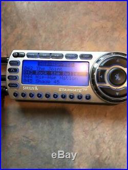 Sirius ST2 Starmate2 Satellite Radio & Car Dock withActive Lifetime Subscription