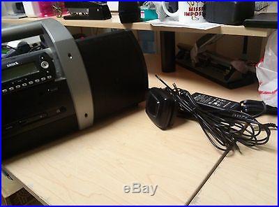 Sirius SUBX1R Satellite Radio Boom Box Boombox Plus Antenna AC Adapter