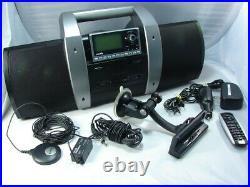 Sirius SUBX1 Satellite Radio Boombox withSP4 Receiver and Full Car Kit Works Great