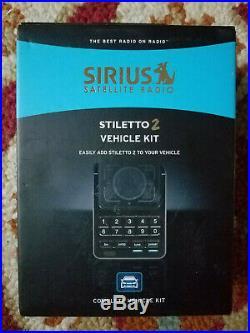 Sirius Satellite Radio Stiletto 2 SLV2 Complete Vehicle KIt-New in Sealed Box