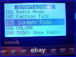 Sirius Sportster 4 SP4 Satellite Radio Premium Lifetime activated Boombox AS IS