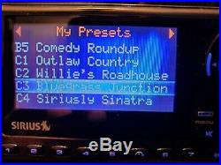 Sirius Sportster 5 Satellite Radio possible LIFETIME subscription w Boombox ant