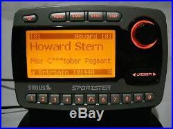Sirius Sportster SP-R1 Satellite Radio & LIFETIME subscription & car Kit