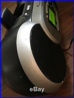 Sirius Sportster SP-R1 Satellite Radio Life time Howard Stern /w SP-B1 Boombox