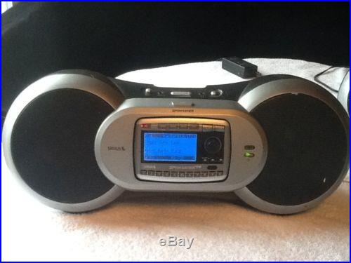 Sirius Sportster SP-R2 Satellite Radio and 2 -SP-B1a Boom Box Dock Activated