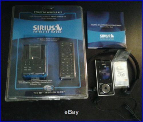 Sirius Stiletto 100 With Stiletto Vehicle Kit, Headphones And Connectors NEW