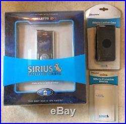 Sirius Stiletto 10 Live Personal Satellite Radio-New Open Box- bundle