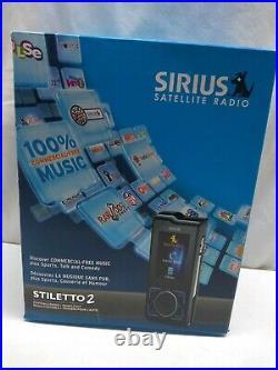 Sirius Stiletto 2 Portable Satellite Radio Receiver & Vehicle Car Kit