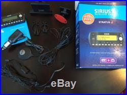 Sirius Stratus 4 Satellite Radio + Complete Vehicle Kit Lifetime Subscription
