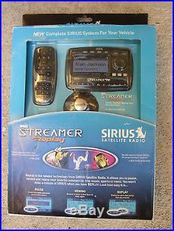 Sirius Streamer Replay SIR-STRC1/SP-R2 Satellite Radio New Sealed withcar kit