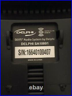 Sirius XM Activated Delphi SA-10000 Radio Receiver With SA-10001 Boombox Dock