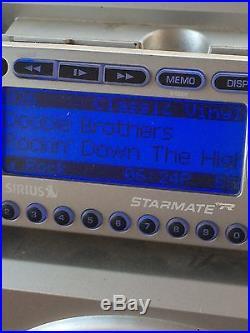 Sirius XM Activated Lifetime Starmate ST2 Satellite Replay Boombox + Antenna